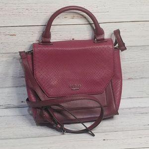 Guess Burgundy Crossbody Bag